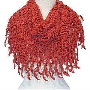 Cable knit infinity scarf. NEW